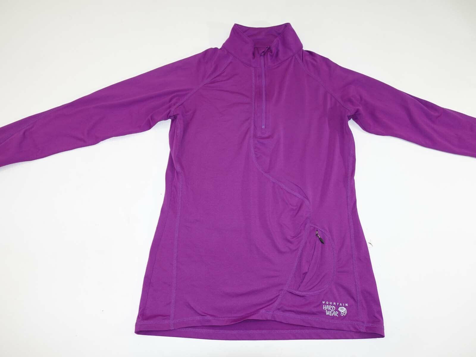 Mountain Hardwear Women's 1/2 Zip Athletic Top Medium Long Sleeves Fuchsia Shirt