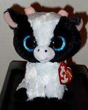 """Ty Beanie Boos ~ BUTTER the 6"""" Cow ~ Stuffed Plush Toy (NEW) 2017 ~ IN HAND"""
