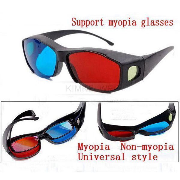 Rot Blau 3D Brille Brillen Kurzsichtigkeit Gläser Anaglyph Glasses Neu
