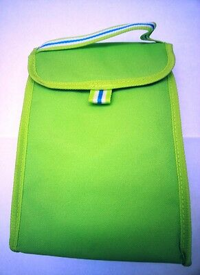 Insulated Lunch Bag Carry Handle & Velcro Fastening Lime Green NEW Work School