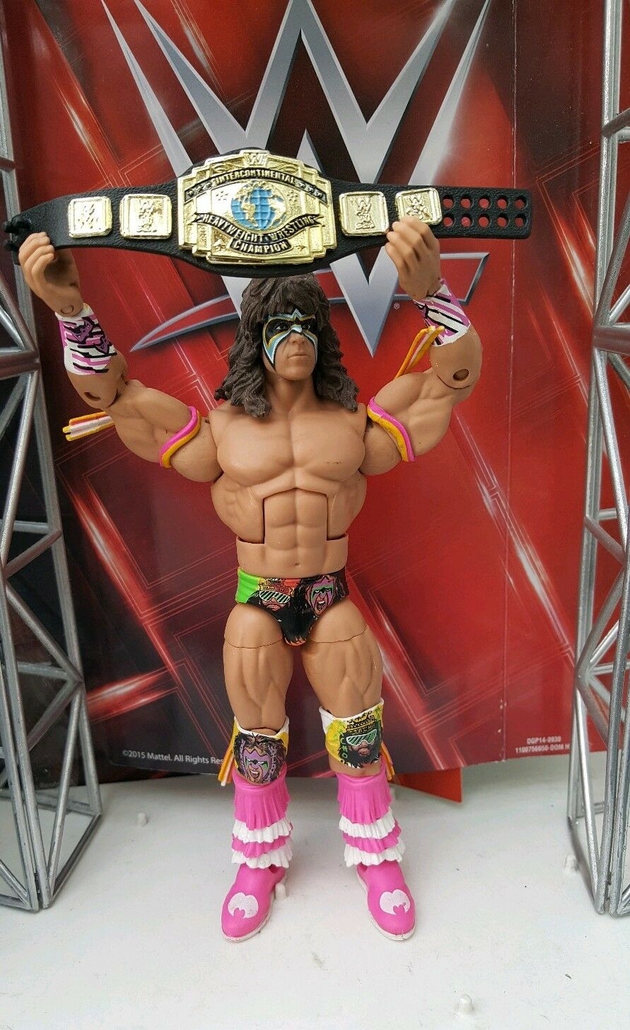 WWE MATTEL SERIES ELITE DEFINING MOMENTS  ULTIMATE WARRIOR WRESTLING FIGURES