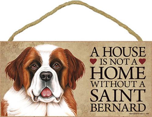 Bonus Coaster Saint Bernard Wood Dog Sign Wall Plaque 5 x 10