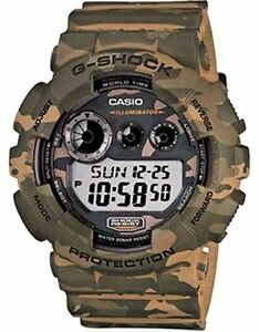 ffa7ac4931f Casio G-Shock GD-120CM-5D Camouflage Series Green Army Resin Digital ...