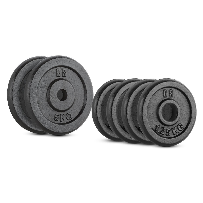 CS weights discs Sport and Travel Gym Fitness Dumbbells Bars Set 15kg 6pz