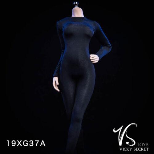 VSTOYS 19XG37A 1//6th Vicky Serect Long Sleeve Conjoined Tights Leotard Black