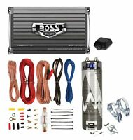 Boss Ar2400.4 2400w 4-ch Car Amplifier + Remote + 2.0 Farad Capacitor + Amp Kit on Sale