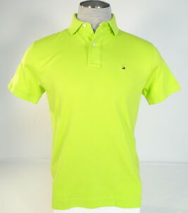 bd09acbd Tommy Hilfiger Lime Green Short Sleeve Soft Cotton Polo Shirt Men's ...