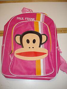 Youth-Children-Toddler-Student-Bag-Cute-Paul-Frank-Backpack-Girls-Stripes-Pink