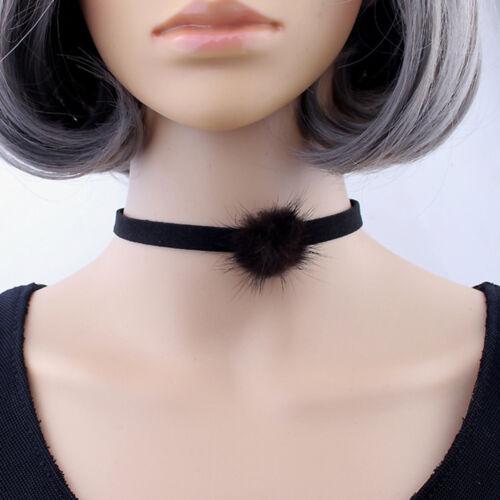 Creative Jewelry Women Pompon Pendant Choker Chain Bib Statement Necklace Gift
