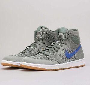 Air-Jordan-1-Retro-High-Flyknit-Clay-Green-919704-333-Mens-Basketball-Shoes-NIB