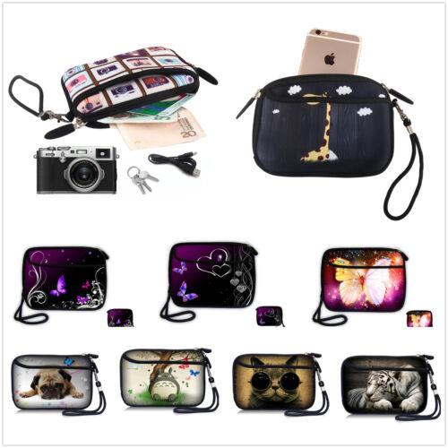 Soft Phone Clutch Zipper Coin Purse Wristlet Wallet Makeup Camera Bag HDD Bag