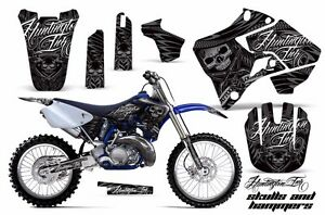 Dirt-Bike-Graphic-Kit-Decal-Sticker-Wrap-For-Yamaha-YZ125-YZ250-96-01-HISH-SLVR