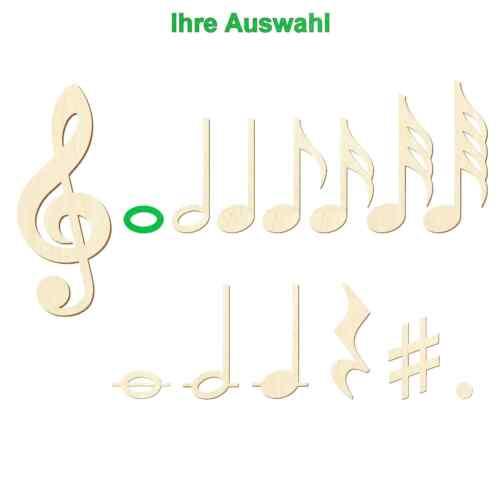 Bütic contrachapado notas musicales-notas caracteres