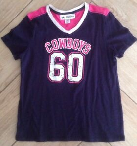 cf1cbe1e002 Girl's Dallas Cowboys Shirt Sz XL 16 Authentic Pink Short ...
