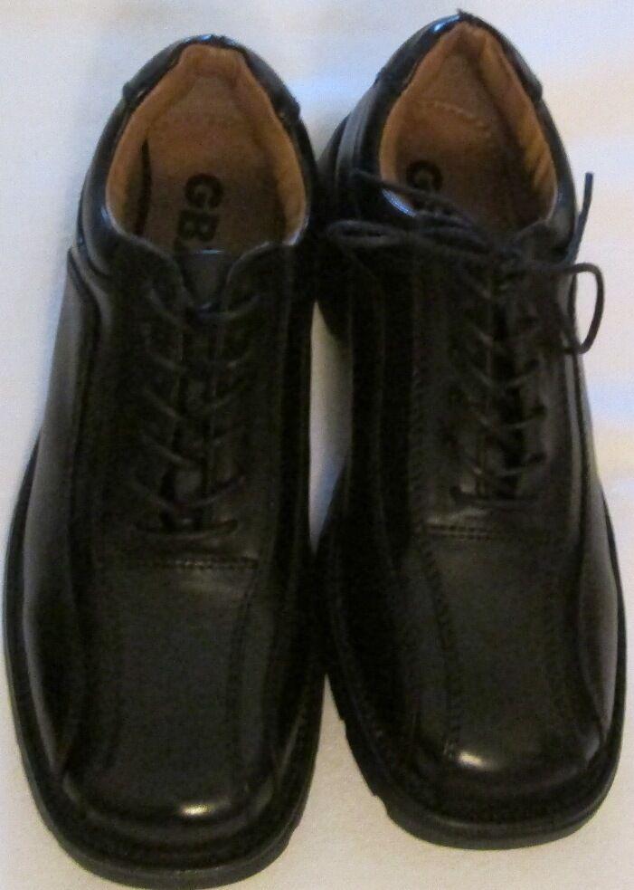 Schuhes mens GBX sz 8M EUR41 GBX mens new Leder manmade materials schwarz dress casual a2363d