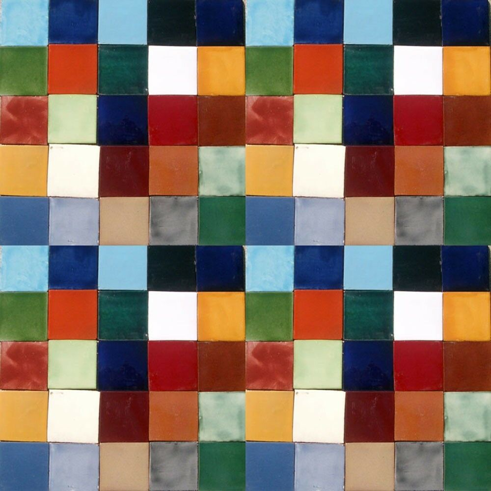 100 MEXICAN PLAIN COLOR TILES 4x4 HANDMADE WALL FLOOR USE POTTERY  004