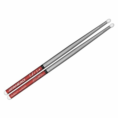 Ahead FZ Frank Zummo Signature Aluminum Drumsticks Pair Red w//Silver Tapers 65 g