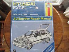 haynes service repair manual hyundai excel 1986 -1994 all models wiring  diagrams