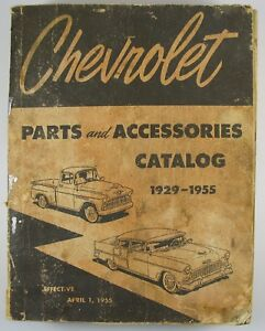 Image Is Loading 1929 1955 Chevrolet Parts And Accessories Catalog Chevy