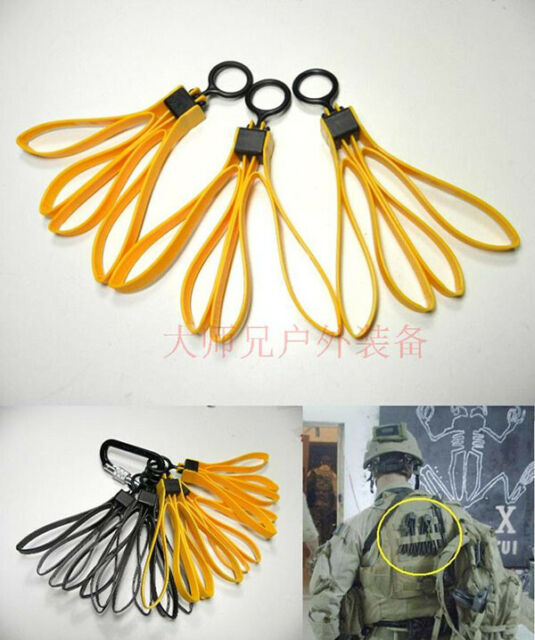 Folding Nylon Restraint Belt ASP Pull Ring Type Tactical One-off Strip Rope J5C8