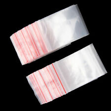 New 100 Small Clear Bags Plastic Baggy Grip Self Seal Resealable Zip Lock