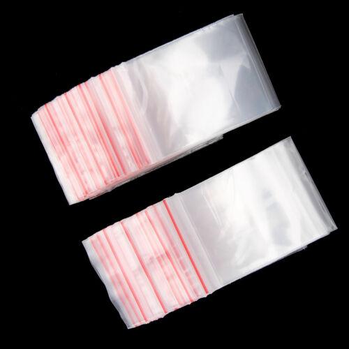 New 100 Small Clear Bags Plastic Baggy Grip Self Seal Resealable Zip Lock Us #UK