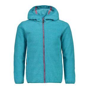 Cmp Polaire Veste Girl Jacket Fix Hood Bleu Respirant Saumon Unicolore-afficher Le Titre D'origine