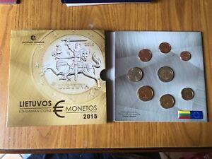 Série Officiel 2015 Lituanie 8 Monnaies Euro FDC Numis Et Billets de Banque