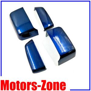 Painted Sacr'E Bleu MetallicTowing Mirror Cover Caps For 14-19 Silverado Sierra