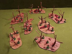 Details about 6 Terrain Flesh Tree pieces For Minature Fantasy Warhammer  40K 28mm Scale