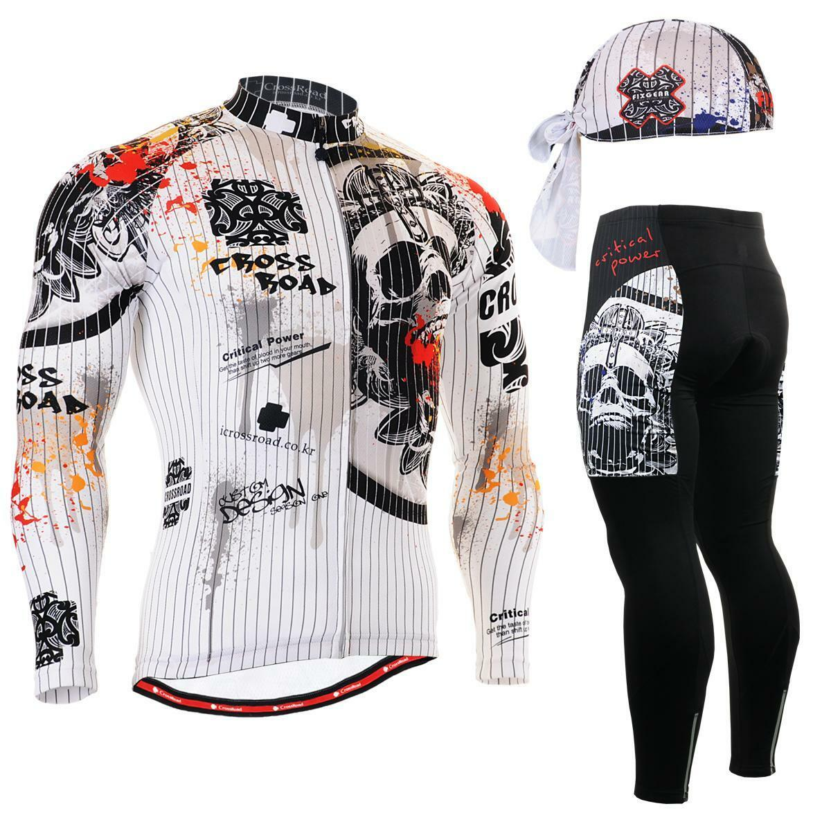 FIXGEAR CS-901 SET Cycling Jersey & Padded Pants,MTB Bike,BMX,Beanie Free GIFT