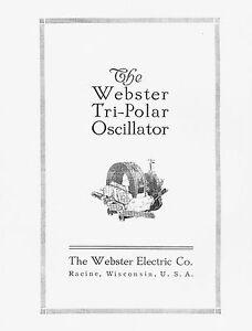 Webster-Tri-Polar-Oscillator-Manual
