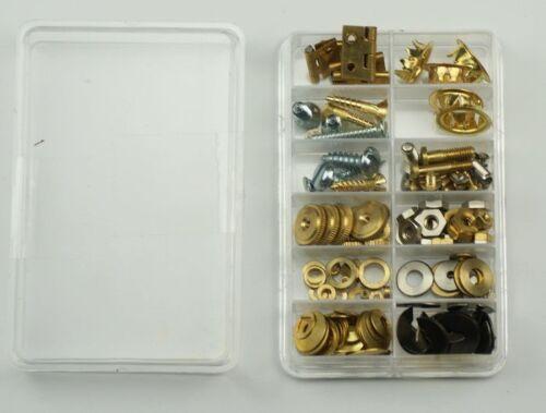 Clock repair kit parts, grommets screws fixing nuts washers hinges clockmakers
