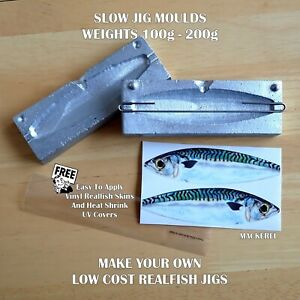 Slow-Jig-Lure-Moulds-100g-or-200g-make-your-own-Realfish-jigs-easy-to-use-moulds