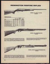 1988 REMINGTON 541-T T-Bolt~552 A & 552 BDL Deluxe Speedmaster Rimfire Rifle AD