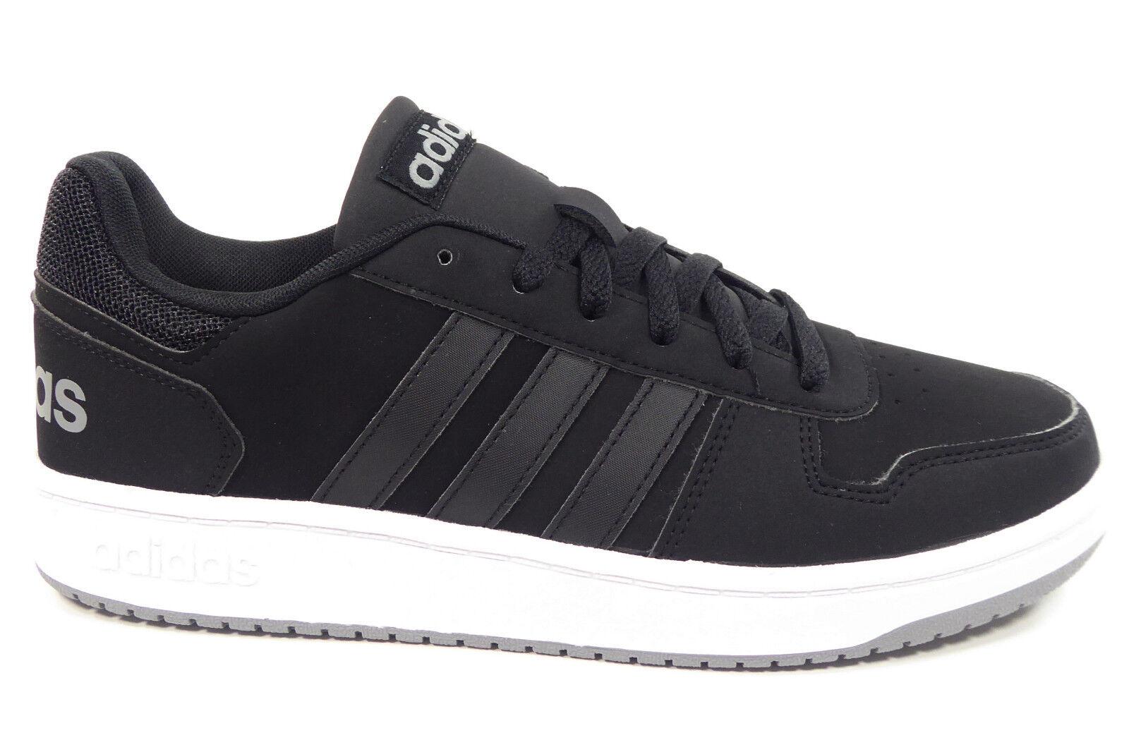 adidas Neo Herrenhalbschuhe Sport Retro Sneaker in Schwarz HOOPS 2.0 DB0122