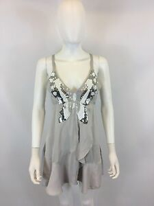 Womens Ladies New Colorful Sequin Bead Design Top With CrissCross Back 6 Colour