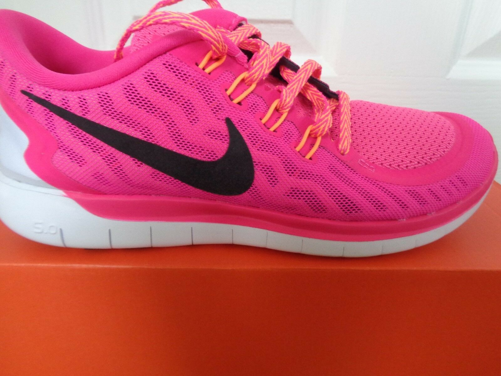 new arrival 1cc03 b6df3 Nike Free 5.0 Da Donna Ginnastica 724383 600 EU 38.5 38.5 38.5 US 7.5 Nuovo  + Scatola 85c93e