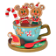 Disney Christmas 2020 Mickey /& Minnie Accessory Stand Gingerbread Japan NEW
