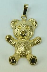 Anhänger Für Kette Teddybär Bärchen In Aus 9 Kt. 375 Gold Pendant Novel (In) Design;