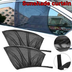 2x-Slip-On-Window-Shades-Car-Protection-Curtain-Sunshade-Mesh-Cover-Flexible
