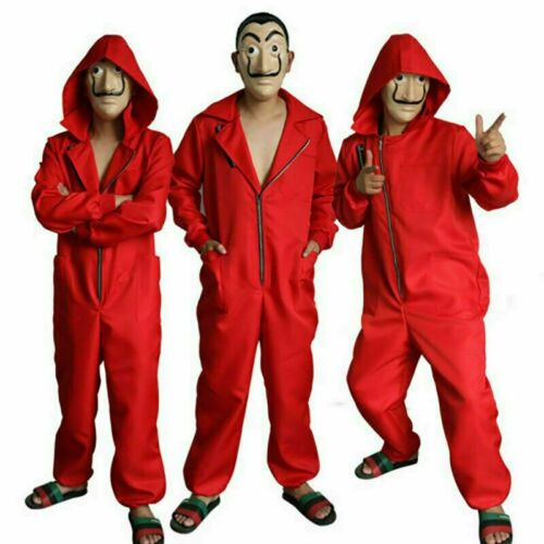 Salvador Dali Money Heist The House of Paper Cosplay Costume Jumpsuit Mask2020