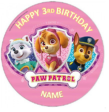 PAW PATROL GIRL BIRTHDAY Personalised Edible Icing Cake Topper Decoration  Images cfdfbe7371