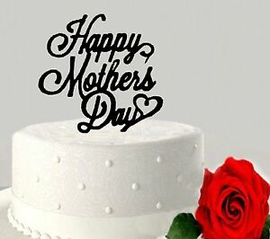 Image Is Loading Acrylic Happy Mothers Day Cake Topper Mother 039