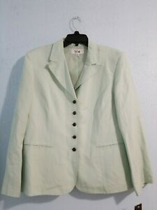 NWT LE SUIT Women's Blazer Jacket 5 Bottoms Long Sleeve Linen Blend.Size 18