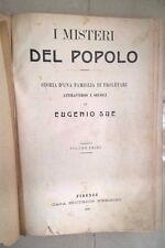 I MISTERI DEL POPOLO EUGENIO SUE VOLUME PRIMO 1908 NERBINI SCARPELLI