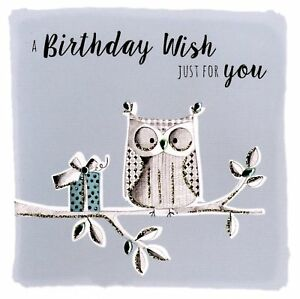 Owl-Birthday-Wishes-Greeting-Card-Hand-Finished-Notting-Hill-Cards