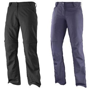 Details about Salomon Elemental Zip Pant W Womens Hiking Outdoor Trousers Mountain Detachable