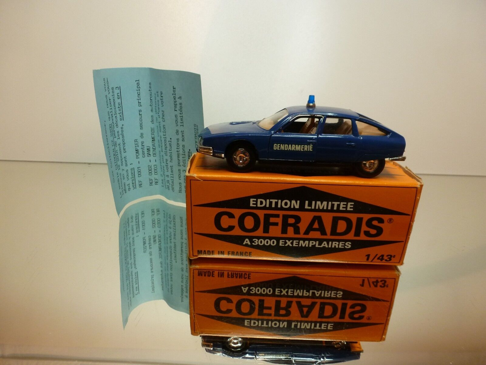 SOLIDO COFRADIS 0002 CITROEN CX 2400 GENDARMERIE - bleu 1 43 - VERY GOOD IN BOX