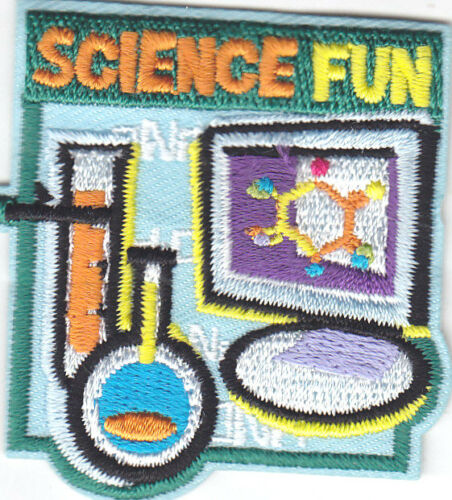 """Chemistry Iron On Embroidered Patch//School Learning /""""SCIENCE FUN/"""" PATCH"""